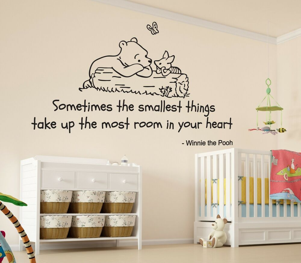 Winnie The Pooh Smallest Things Nursery Wall Art Vinyl