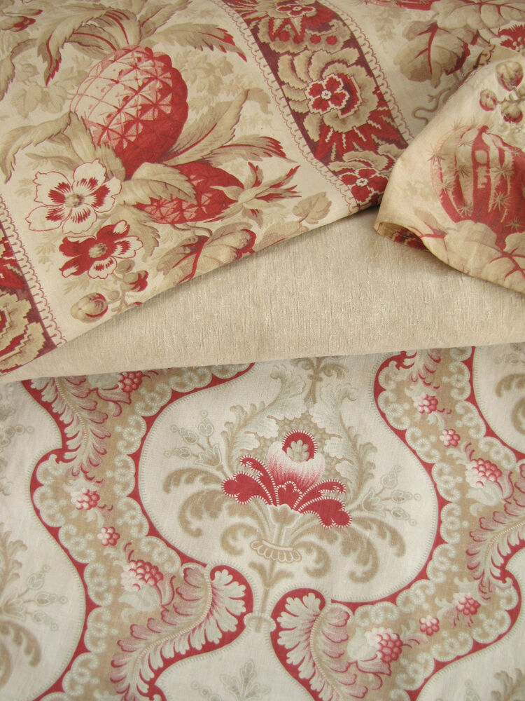 Antique vintage french fabric coordinating ticking for Vintage fabric