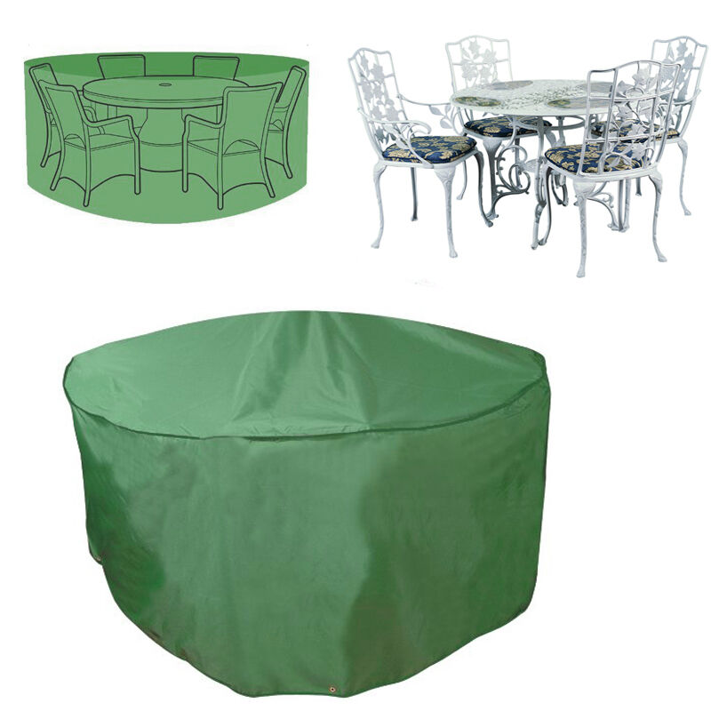 Round waterproof rain cover heavy duty for rattan cube for Rattan garden furniture seat covers