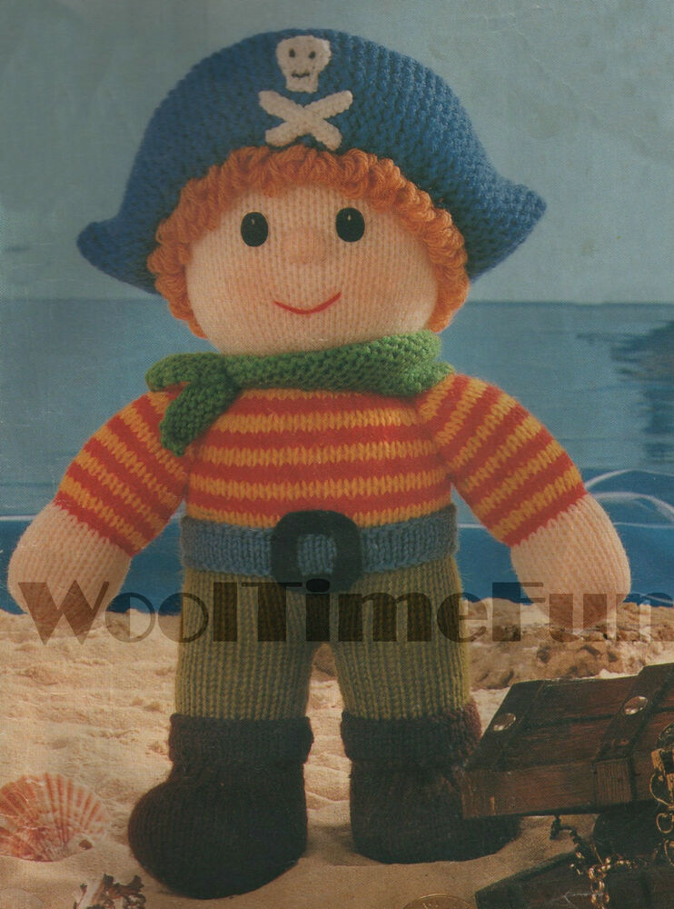 Vintage Knitting Pattern Toy Pirate/Captain/Sailor. eBay