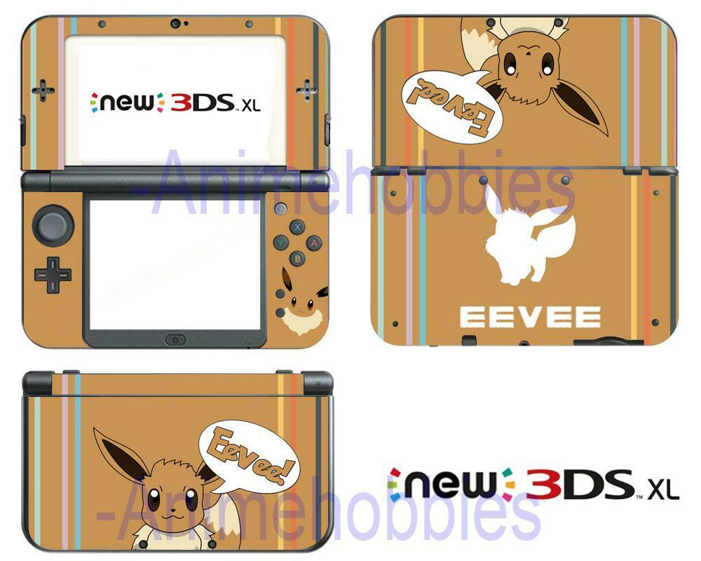 Anime Pokemon Eevee Cute Vinyl Skin Decals Stickers For Nintendo New