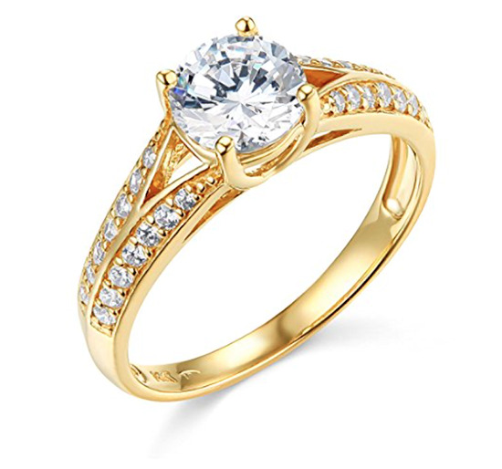 a310df61230ca Details about 1.80 Ct Round Engagement Wedding Ring Trellis Split Shank  Solid 14K Yellow Gold