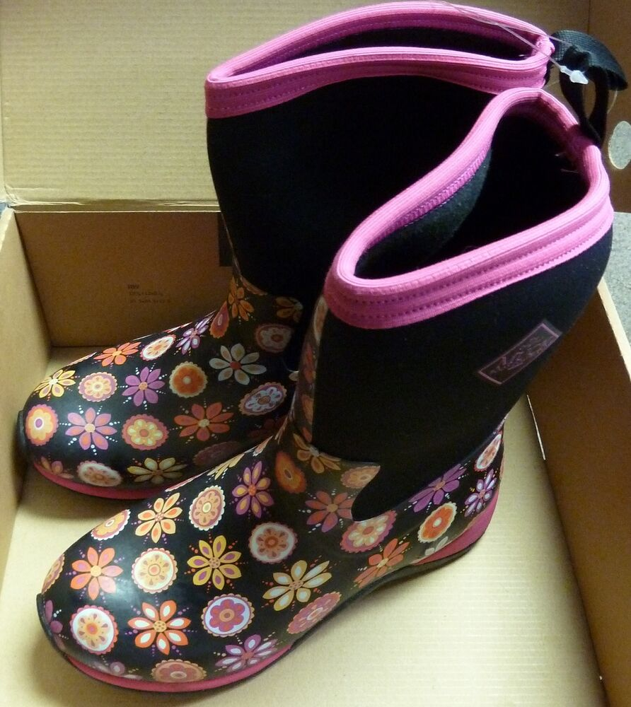 Muck Boots Women S Arctic Weekend Boot Pink Flower Sz 6