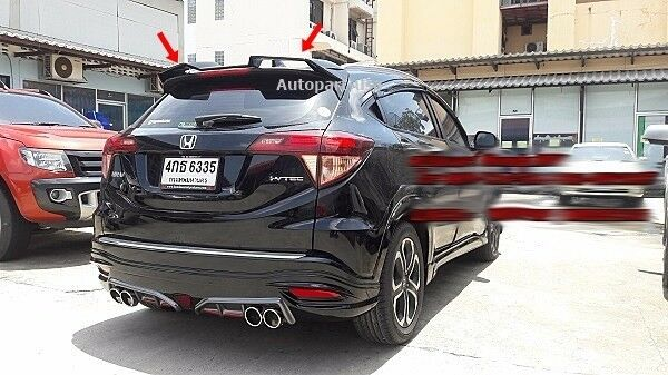 fit for honda hr v hrv 2014 2016 spoiler rear wing sport style unpainted ebay. Black Bedroom Furniture Sets. Home Design Ideas
