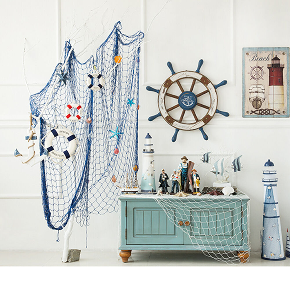 Decorative Room: Navy Style Cloth Life Ring Buoy Room Decor Nautical