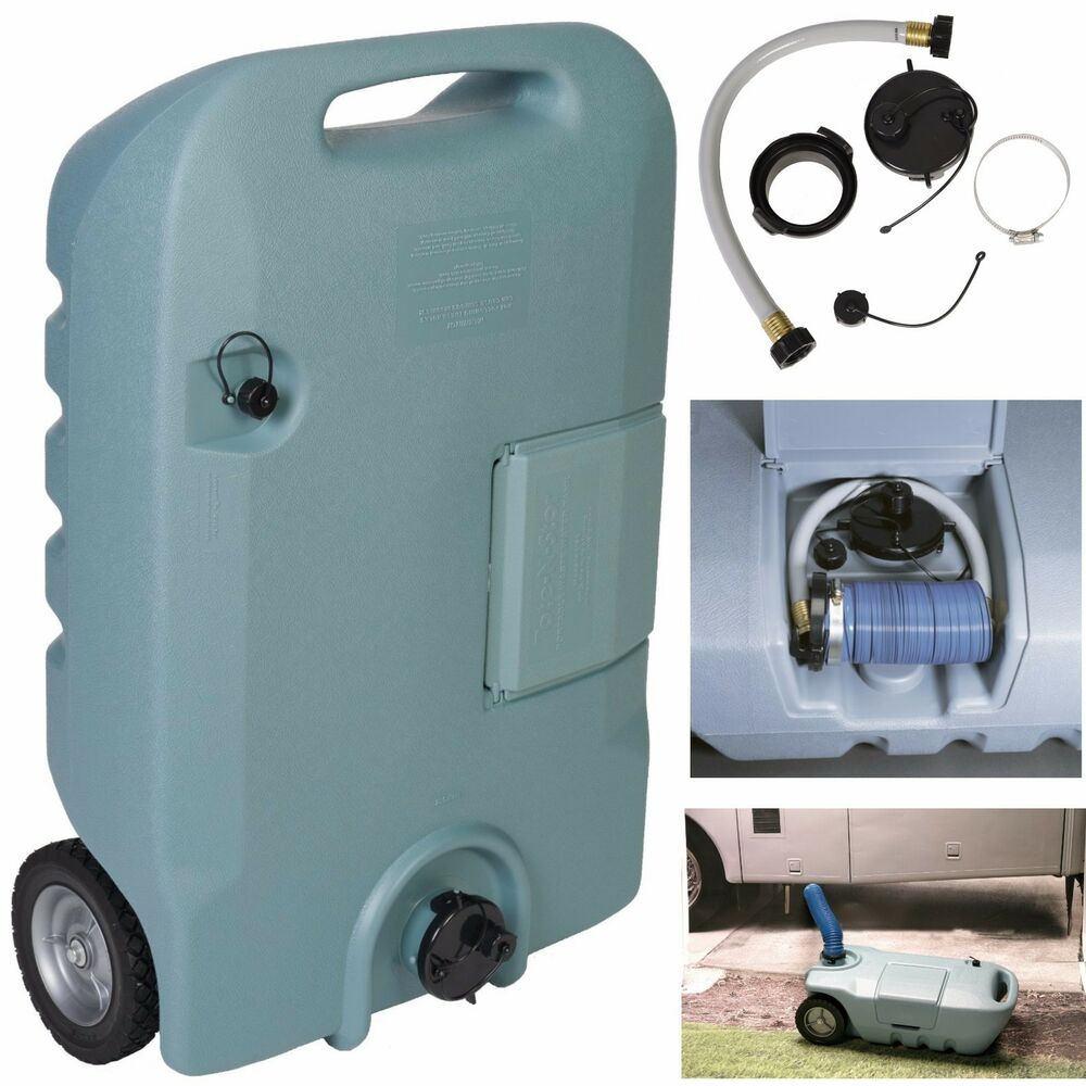 Portable Waste Tank Rv Trailer Camping Sewer Black Gray
