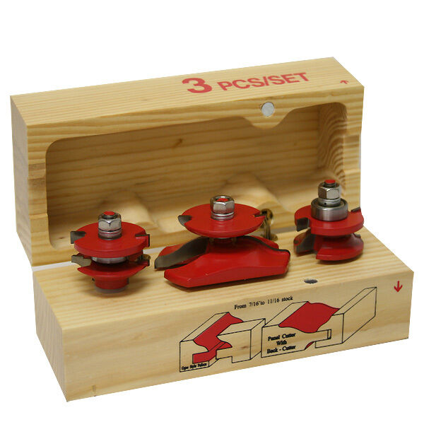 kitchen cabinet door router bits 3pc carbide paised panel cabinet cabinet router bit wood 18589