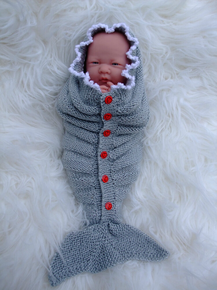 PAPER KNITTING PATTERN TO MAKE MIRACLE MERMAID TAILS 4 SIZES FOR ...