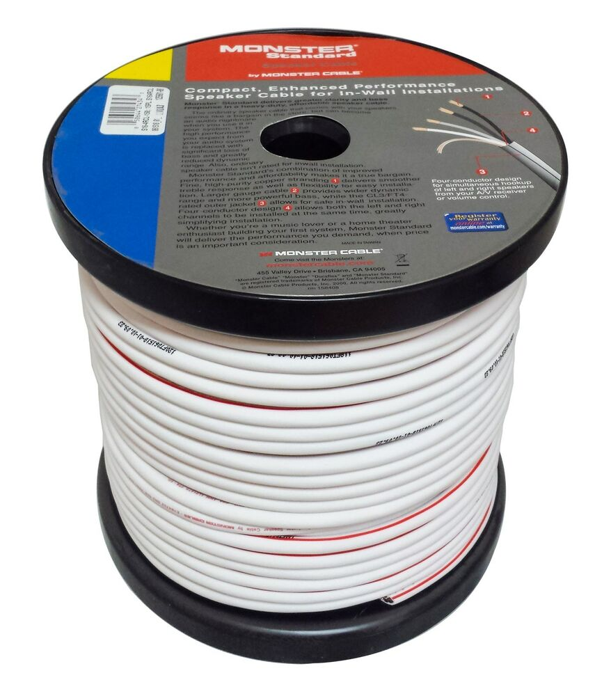 Speaker Wire 16 : Monster cable s rcl speaker wire cl in wall rated