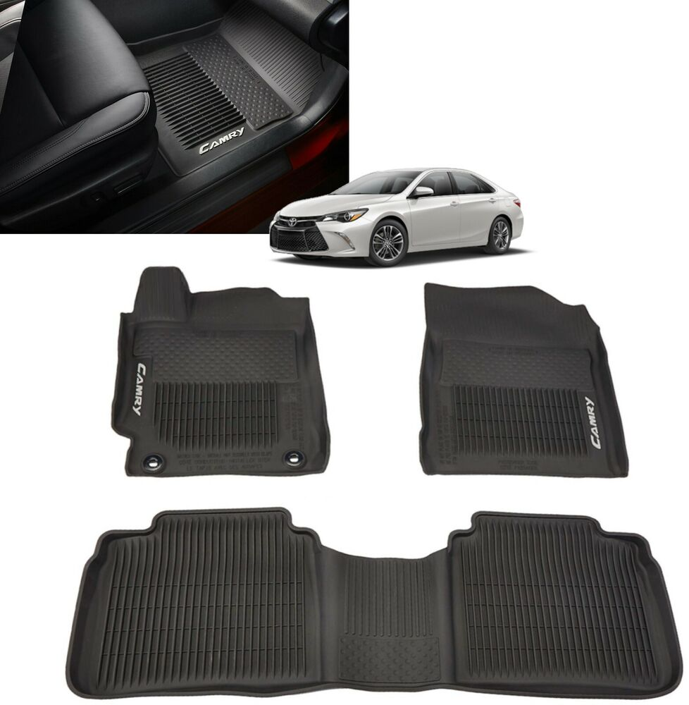 Genuine toyota all weather floor liners 2015 2017 camry for Original toyota floor mats