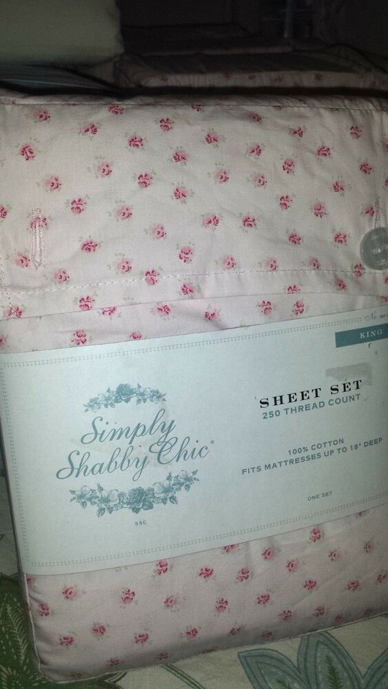 Simply Shabby Chic Rose bud vintage crisp percale 100% ...