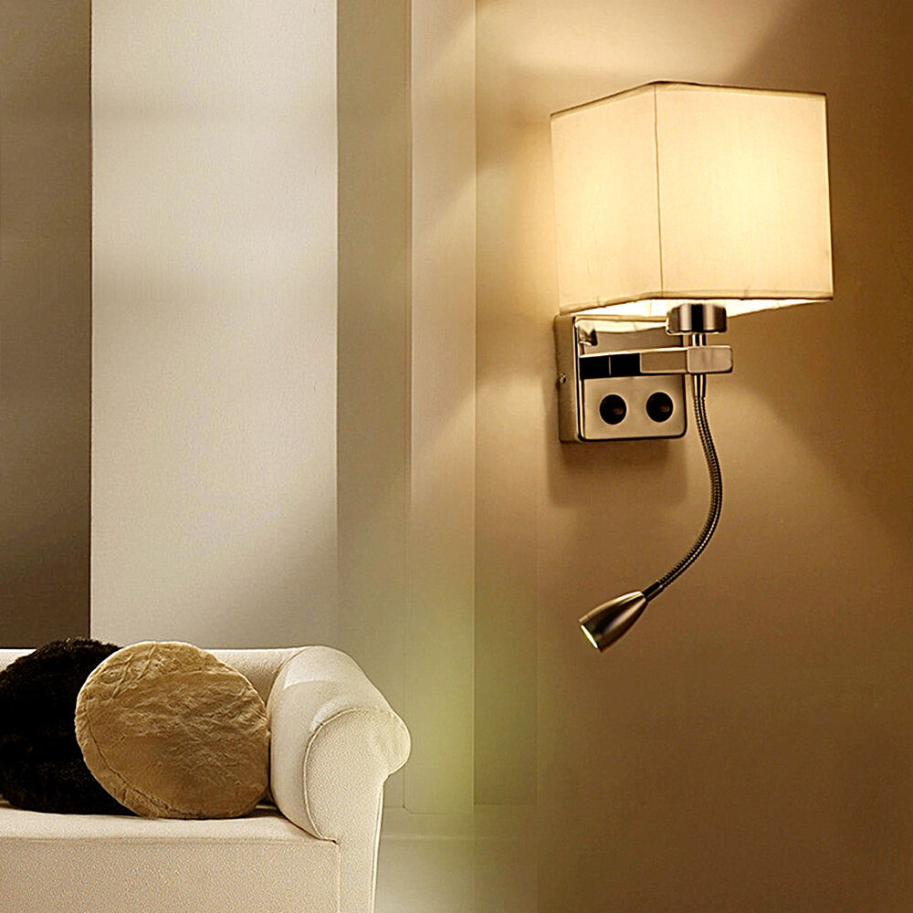 New LED Wall Lamp Bedroom Bedside Light Hotel Lighting