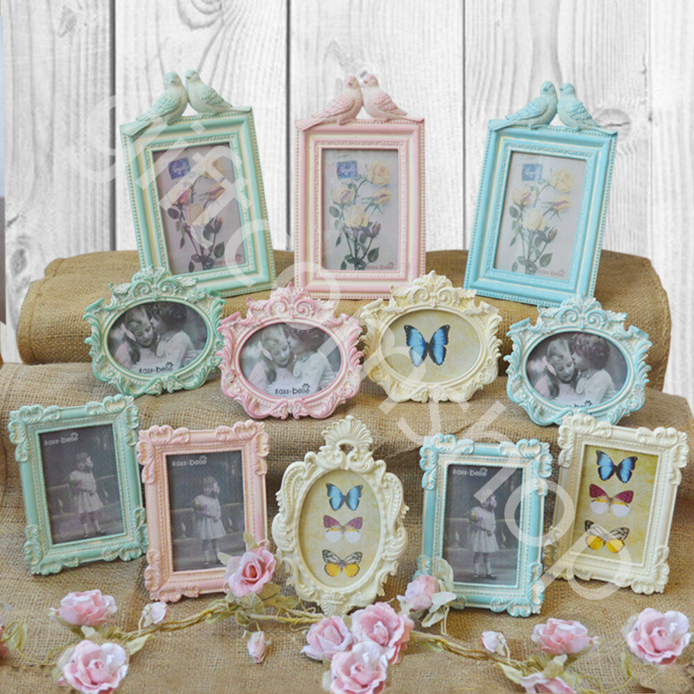 Vintage style picture photo frame shabby chic frames for Small vintage style picture frames