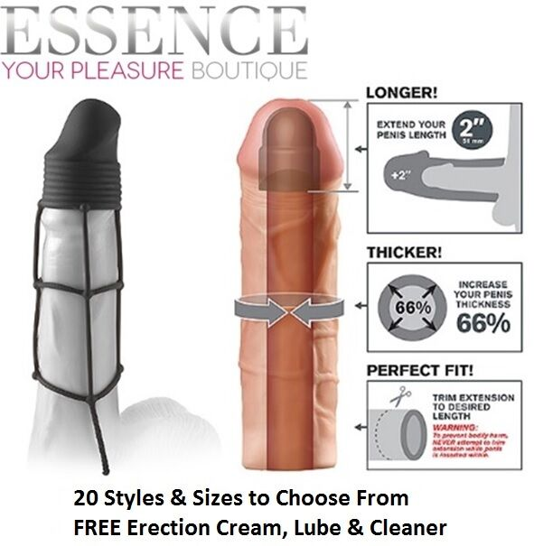 Pipedream FX Penis Extension Sleeve Impotence Aid Increase Your Size -  DISCREET
