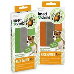 INSECT SHIELD UNISEX NECK GAITER BUILT IN BUG REPELLENT FOR PET DOG PROTECTION