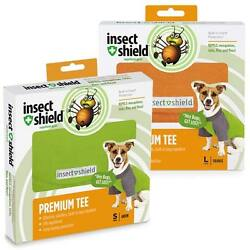 INSECT SHIELD UNISEX PREMIUM TEE BUILT IN BUG REPELLENT FOR PET DOG PROTECTION