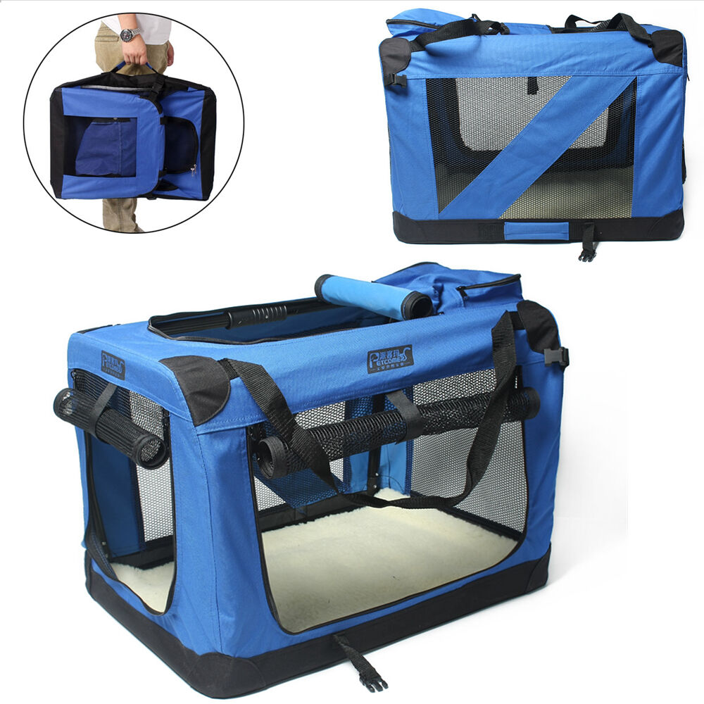Large xl xxl pet soft crate portable dog cat carrier for Xl dog travel crate
