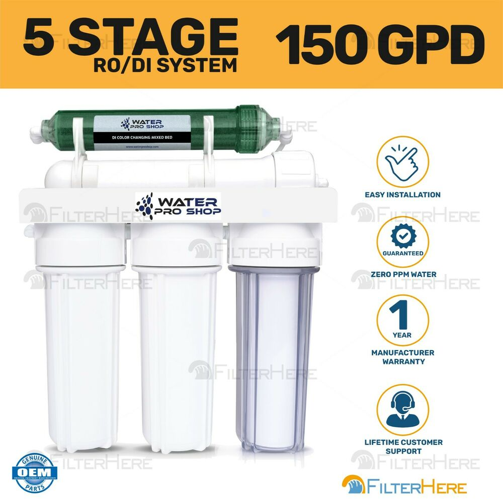 5 stage aquarium reef reverse osmosis water filtration system ro di 150 gpd ebay. Black Bedroom Furniture Sets. Home Design Ideas