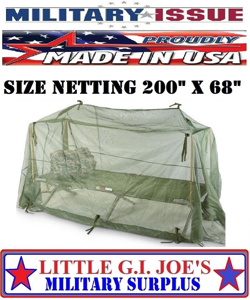 New Military Issue Mosquito Netting Cot Cover Tent
