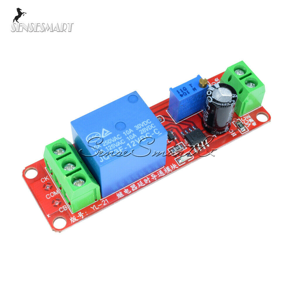 12v Delay Adjustable Timer Relay Switch Module 0 10 Second Ne555 Circuit Oscillator St