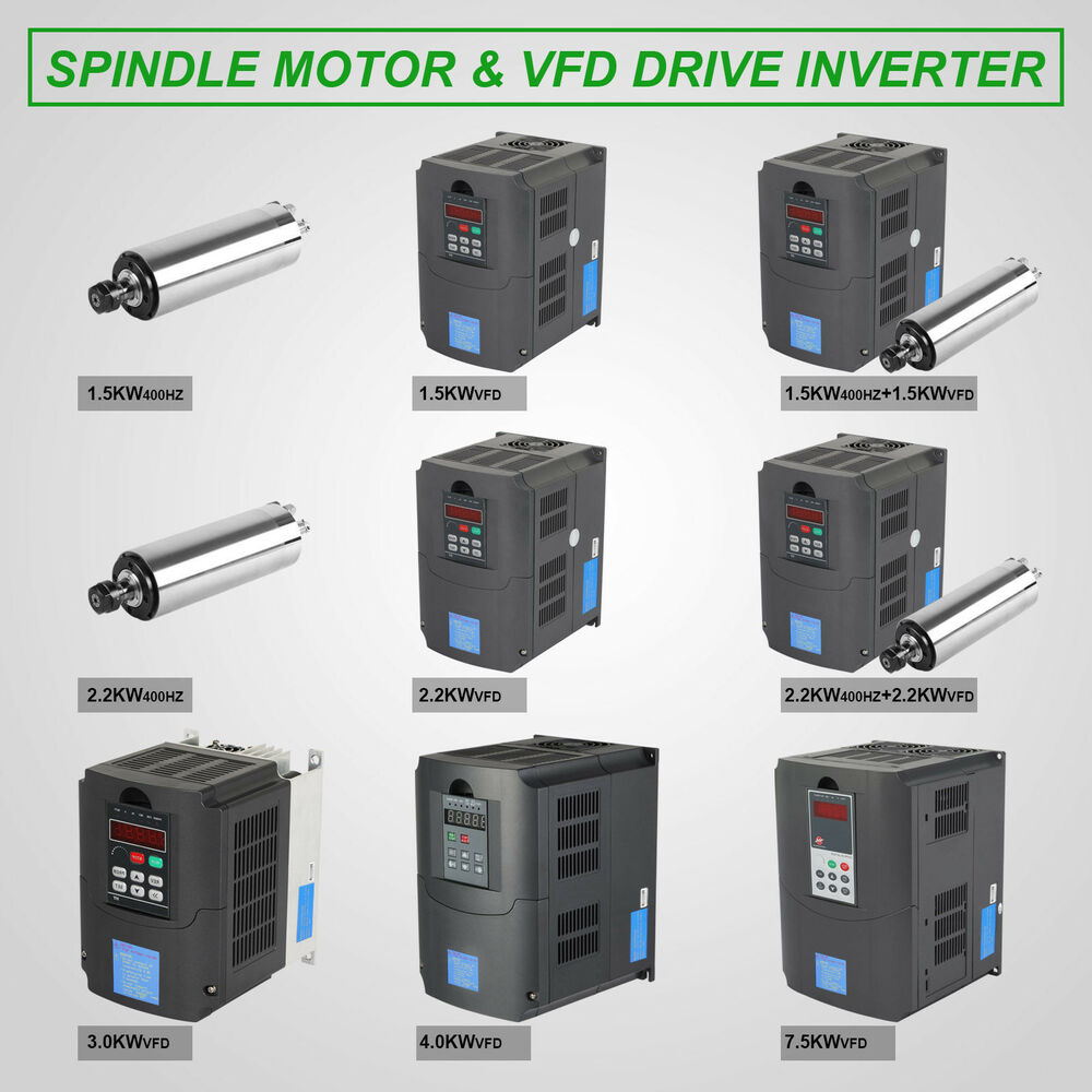 Vfd Drive Water Cooled Spindle High Speed Mill Grind