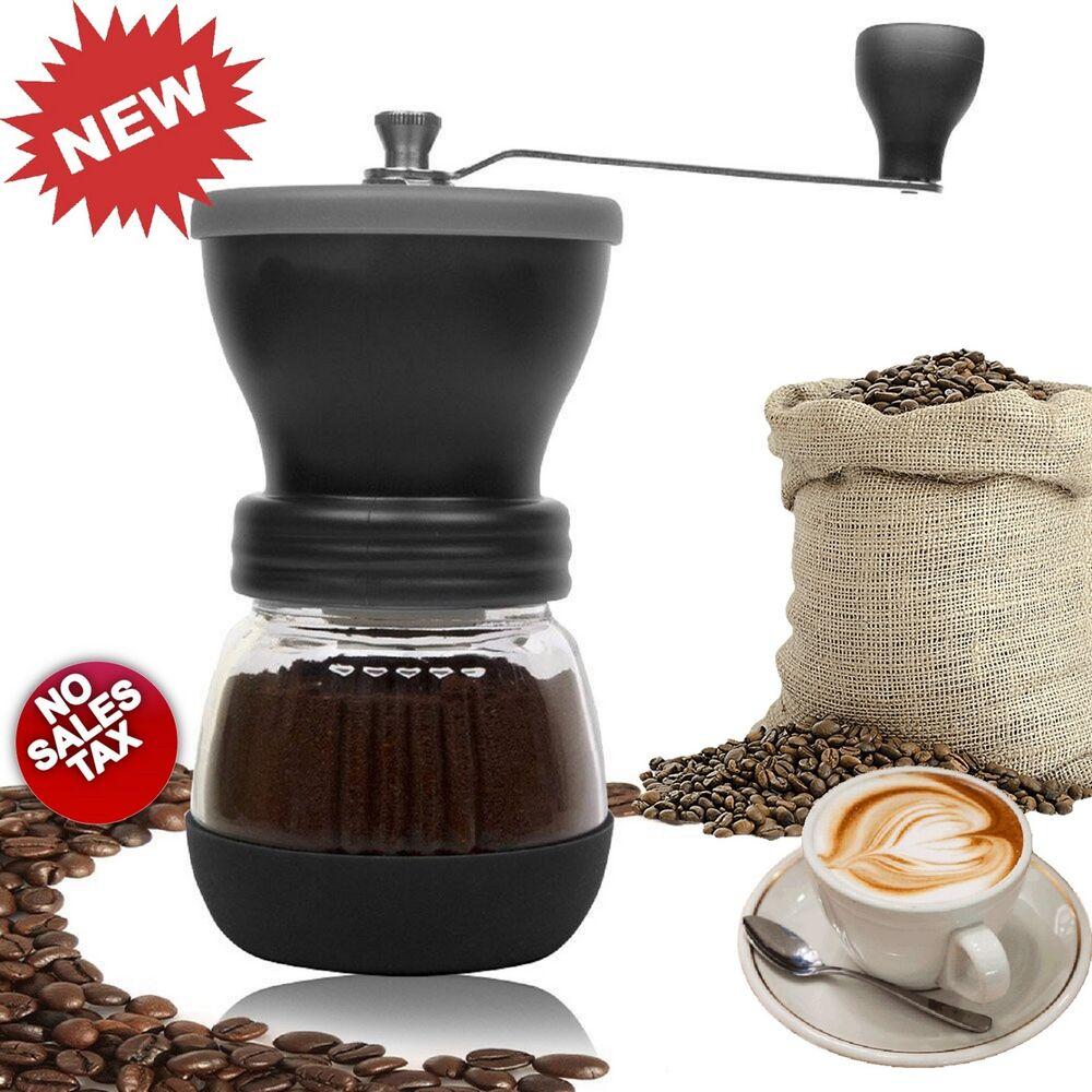 Hand Coffee Grinder ~ Manual coffee grinder conical hand ceramic burr grain mill