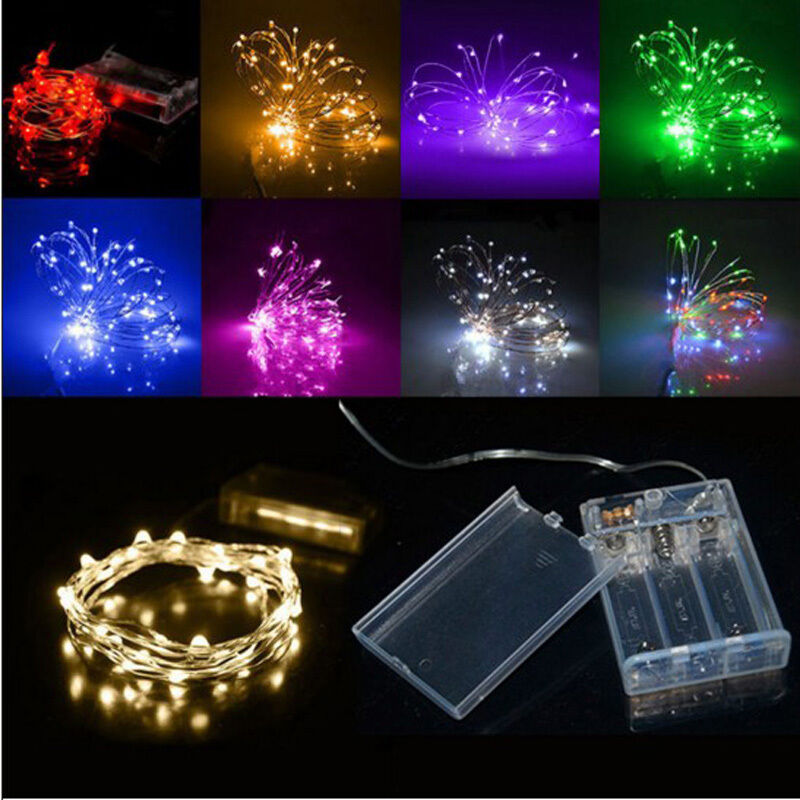 Watch Battery Led String Lights : 2m 20 LEDs Battery Operated Mini LED Copper Wire String Fairy Light Xmas Party eBay