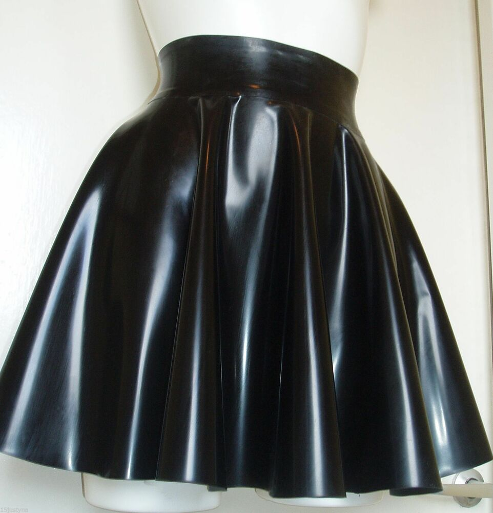 medium thickness latex skirt circle skating gummi rubber fetish tv unisex black
