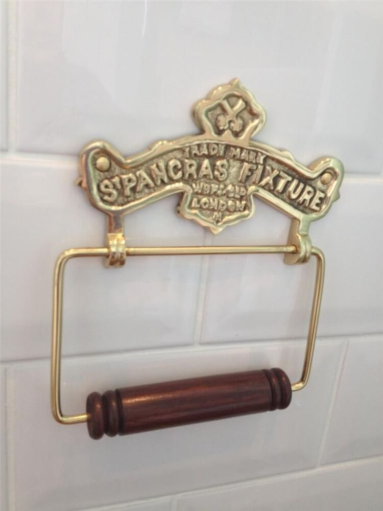 Quality vintage antique style st pancras solid brass Antique toilet roll holders