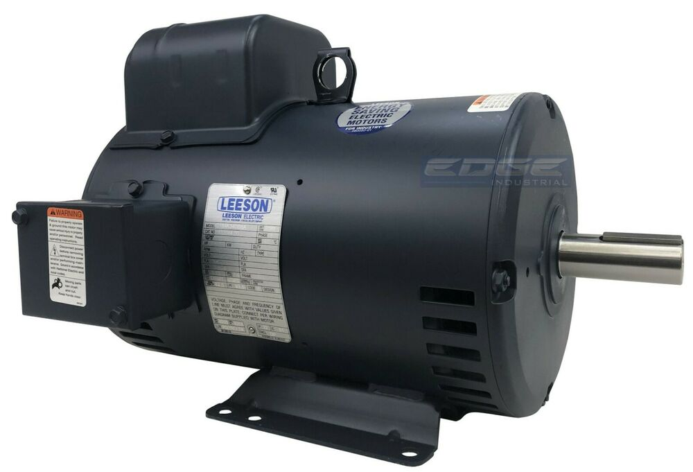 Leeson electric motor 132044 for air compressor 1ph for 5hp air compressor motor single phase