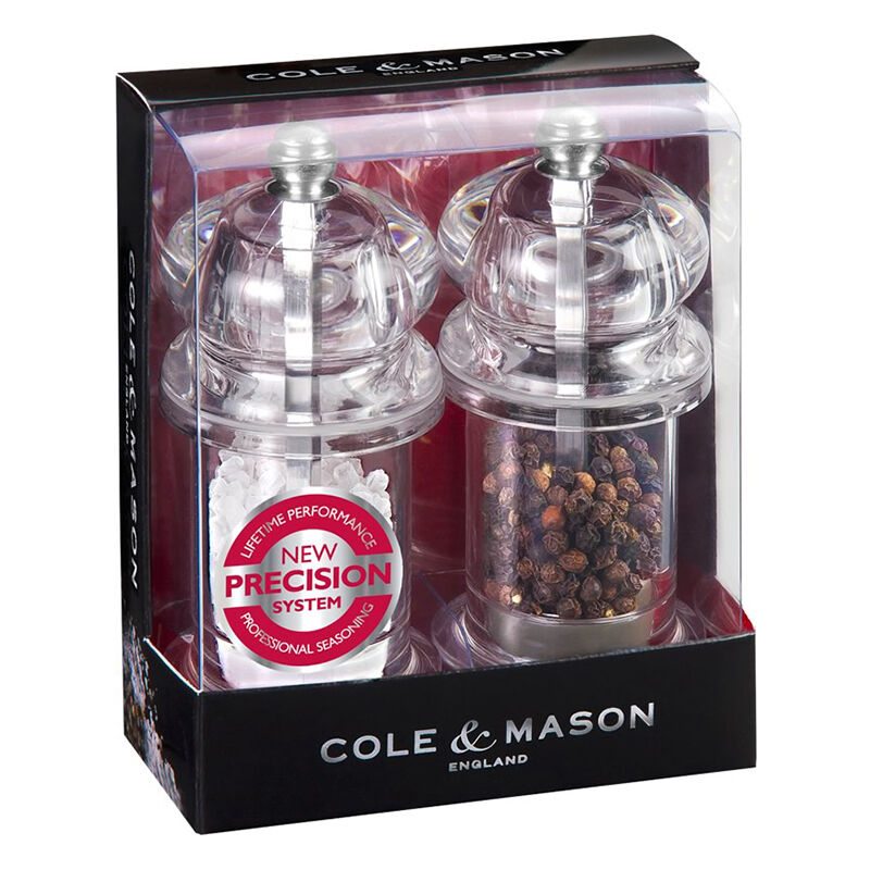 cole mason 505 precision salt and pepper mill gift set 54067505183 ebay. Black Bedroom Furniture Sets. Home Design Ideas