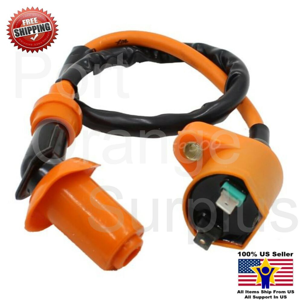 Performance Scooter Moped Ignition Spark Plug Coil Wire