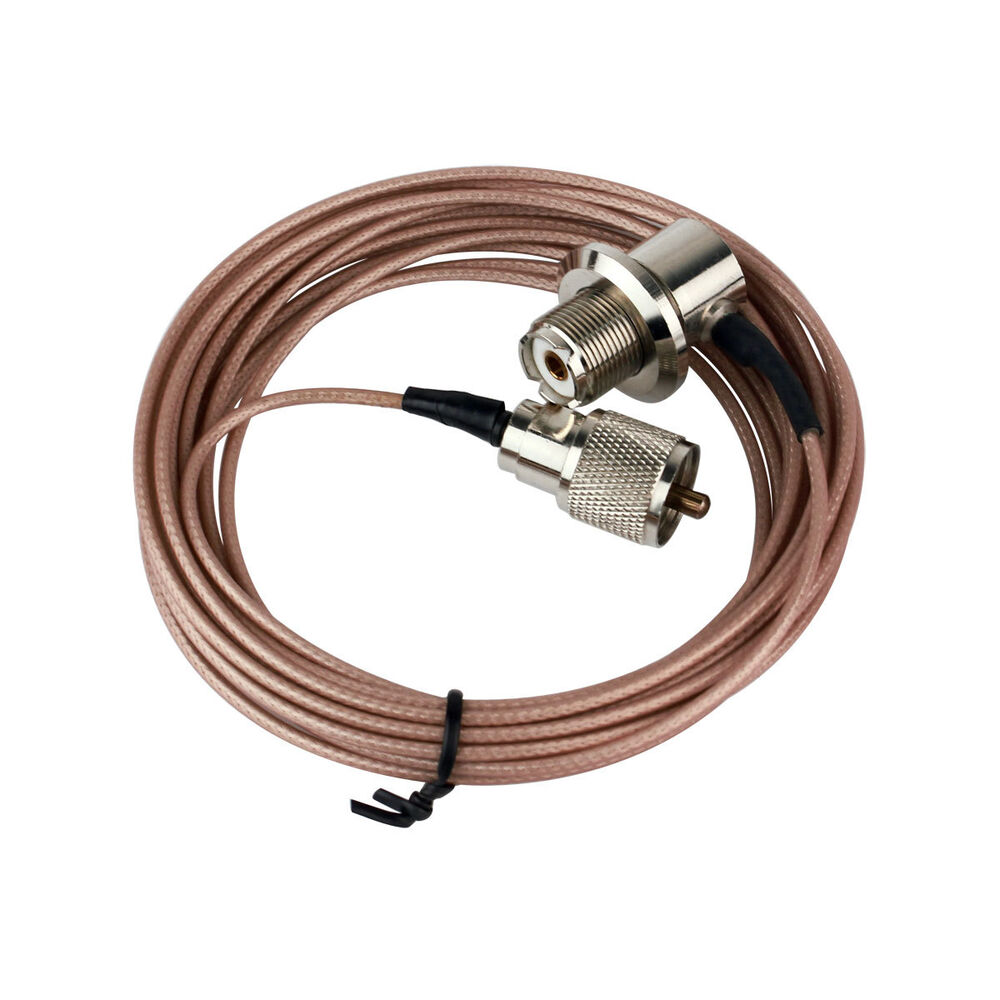 how to connect coaxial cable to radio antenna