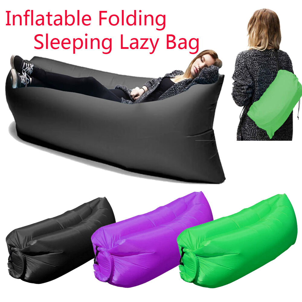 Inflatable Hangout Air Sleeping Hiking Camping Bed Beach