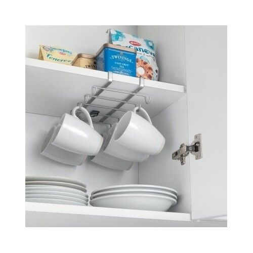 Under Shelf Cup Holder Coffee Mug Kitchen Storage Rack Cupboard ...