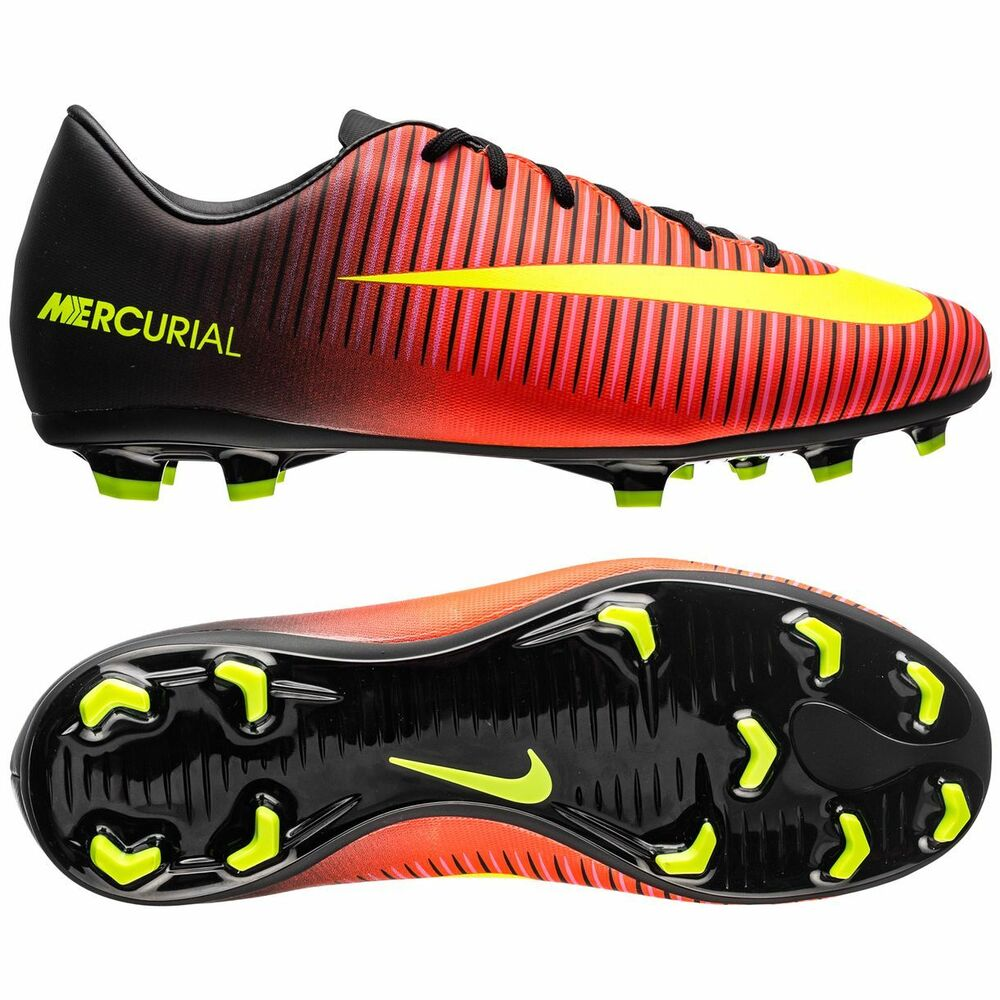 watch c8710 4141b Details about Nike Mercurial Vapor XI FG 2016 Soccer Shoes Spark Crimson  Black  Kids Youth