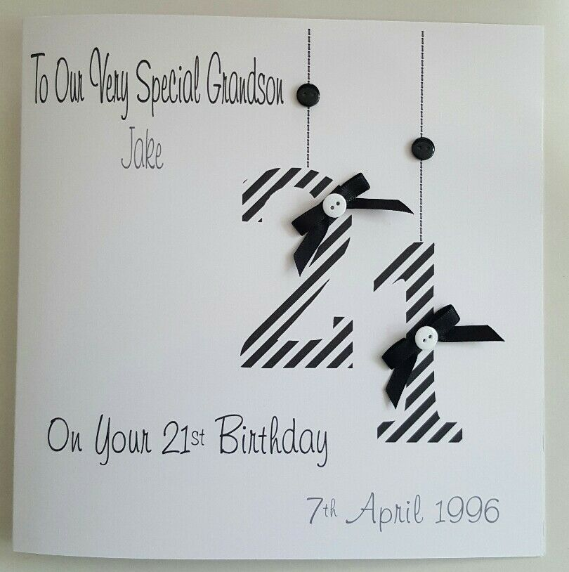 Personalised 21st Birthday Card Gift Wallet Grandson Son