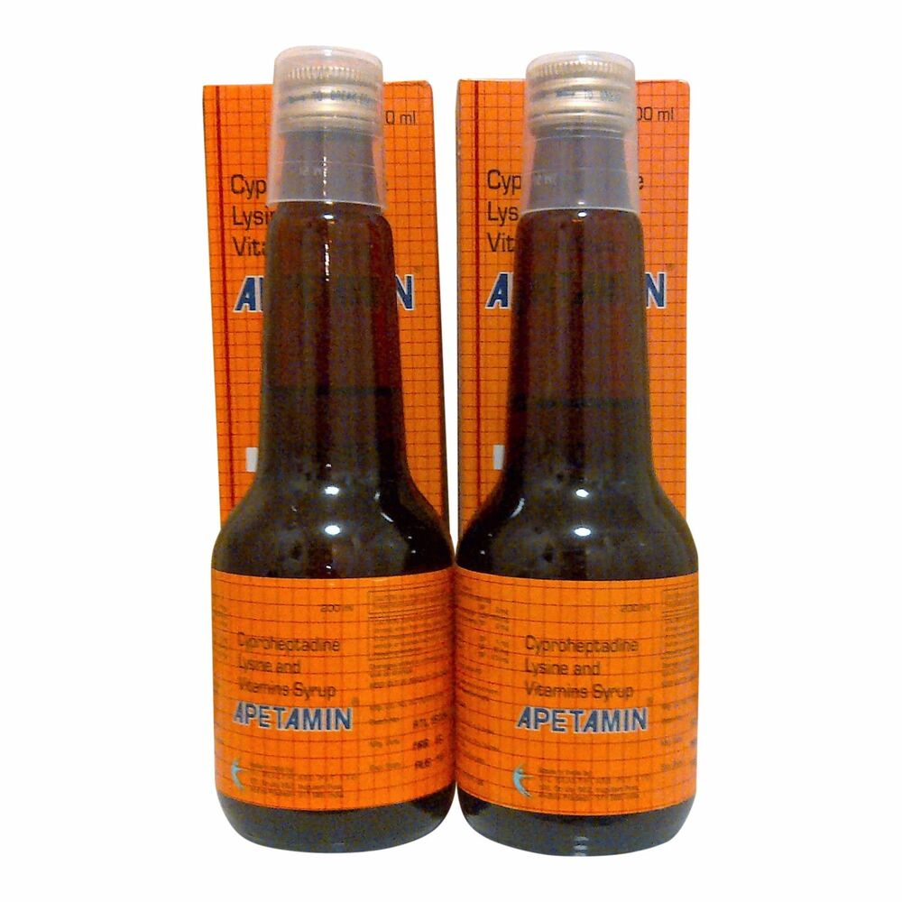 2 Pack Apetamin Weight Gain Syrup Cyproheptadine Weight