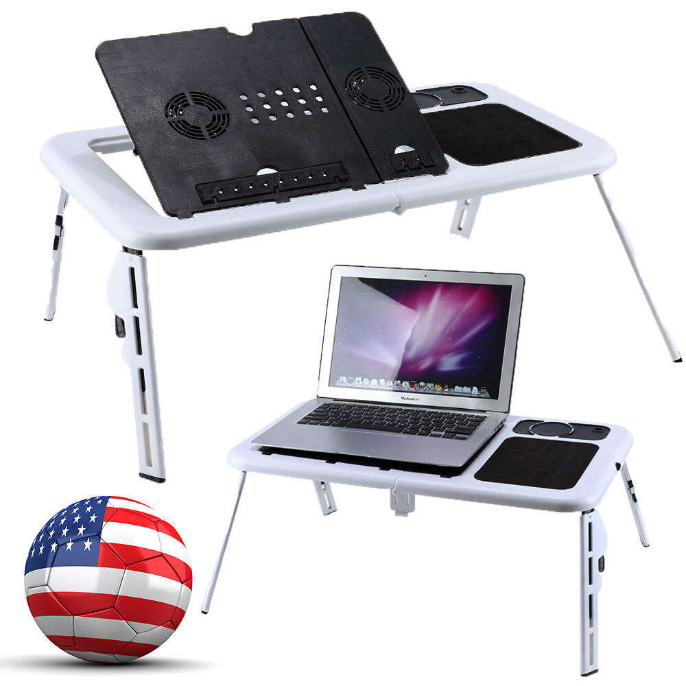 adjustable portable folding laptop notebook table desk stand tray pc computer ebay. Black Bedroom Furniture Sets. Home Design Ideas