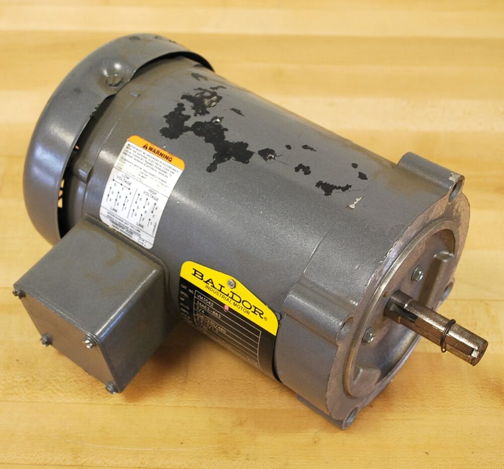 Baldor cat vm3542 spec 34a63 883 3 phase motor hp 3 4 for 3 phase 3hp motor