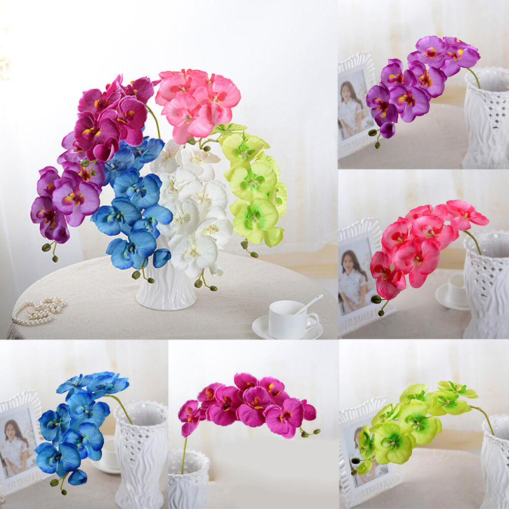 Home Decoration Flowers: Butterfly Orchid Phalaenopsis Silk Flower Home Wedding