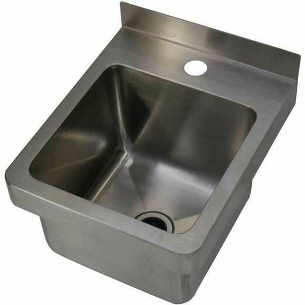 New Hand Wall Basin Sink Stainless Steel Trough Cafe