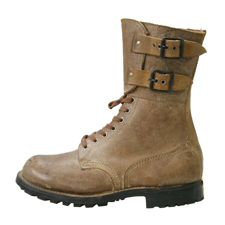 img-Army Boots French Vintage Military 1950 Ranger Foreign Legion High Leather Suede