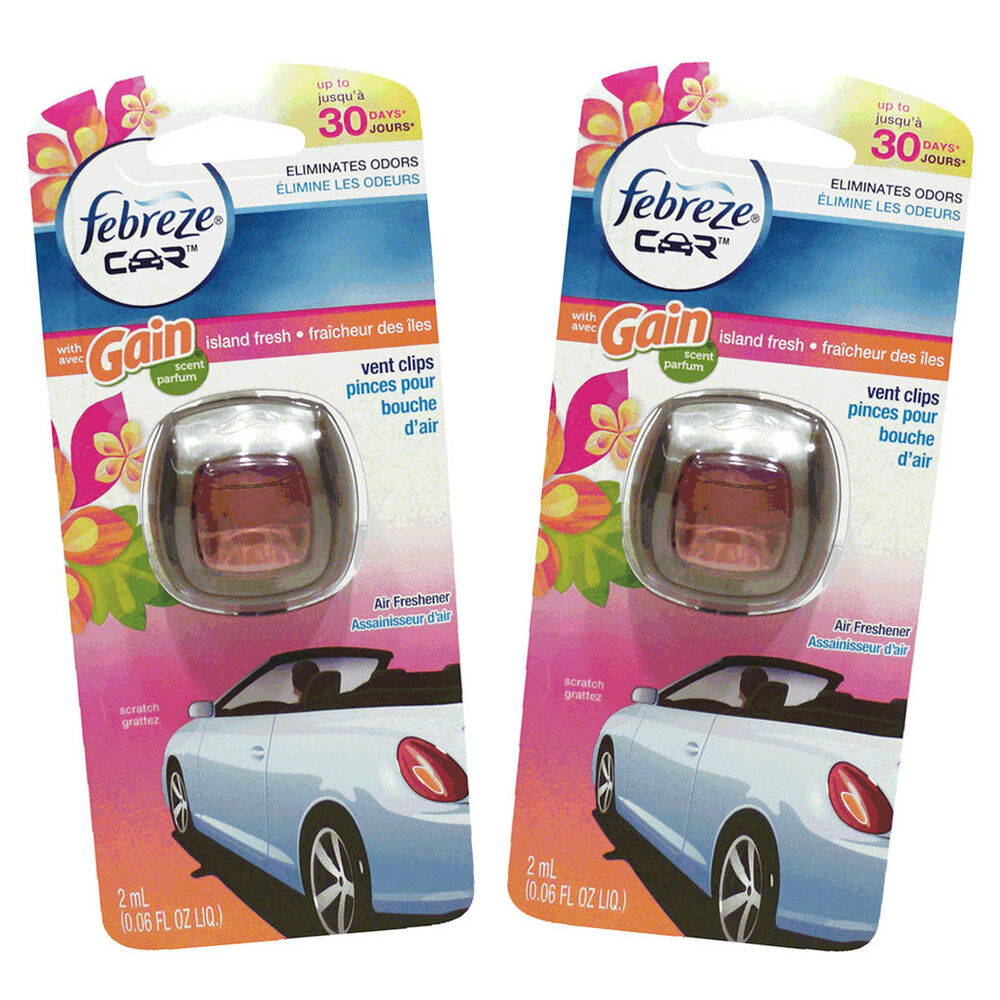 Febreze Car Vent Clips Air Freshener Odor Eliminator New: Febreze Car Vent Clips Air Freshener & Odor Eliminator