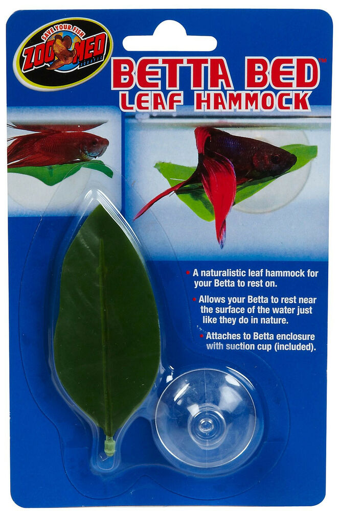Medium image of zoo med betta leaf hammock bed ornament decoration free shipping in the usa   ebay