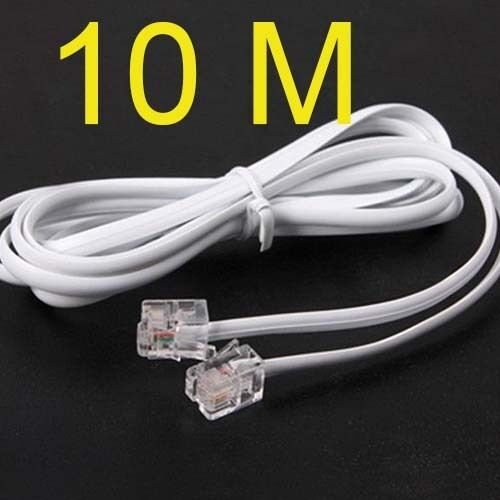 high speed 10m 32ft rj11 telephone phone adsl modem line cord cable ebay. Black Bedroom Furniture Sets. Home Design Ideas