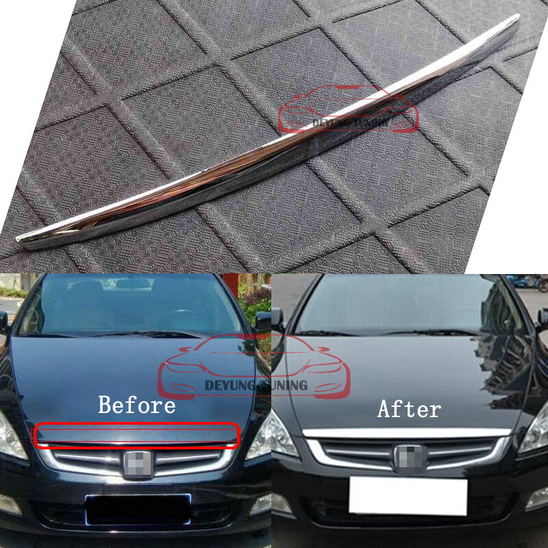 JDM Front Grille Hood Lip Cover Trim for Honda Accord 2003 ...