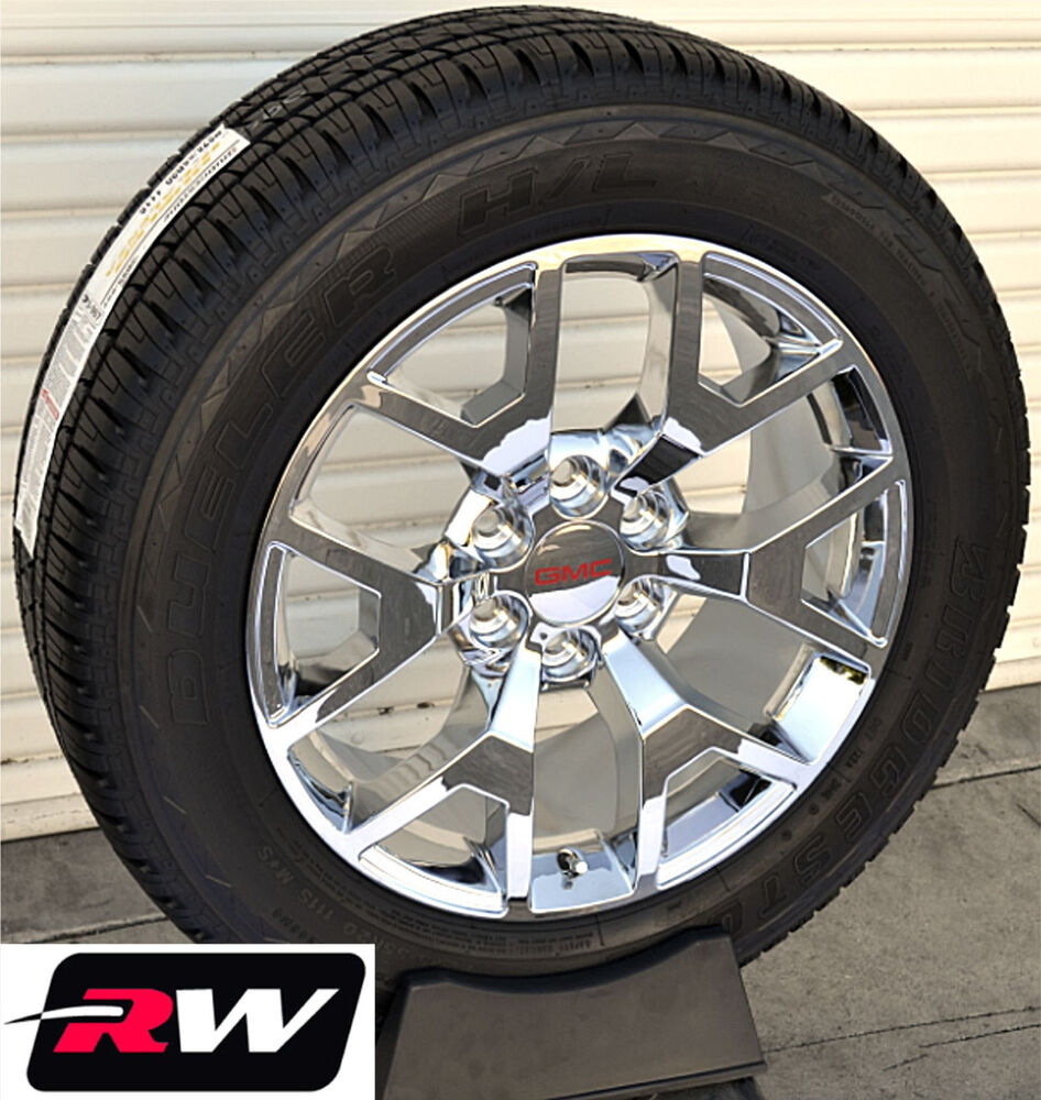 2014 gmc sierra wheels tires chrome rims replica 20 inch 20x9 fit 2007 2018 ebay. Black Bedroom Furniture Sets. Home Design Ideas