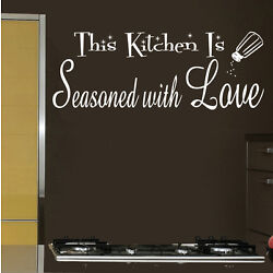 This Kitchen is Seasoned with Love Vinyl Sticker Decal for Wall Decor
