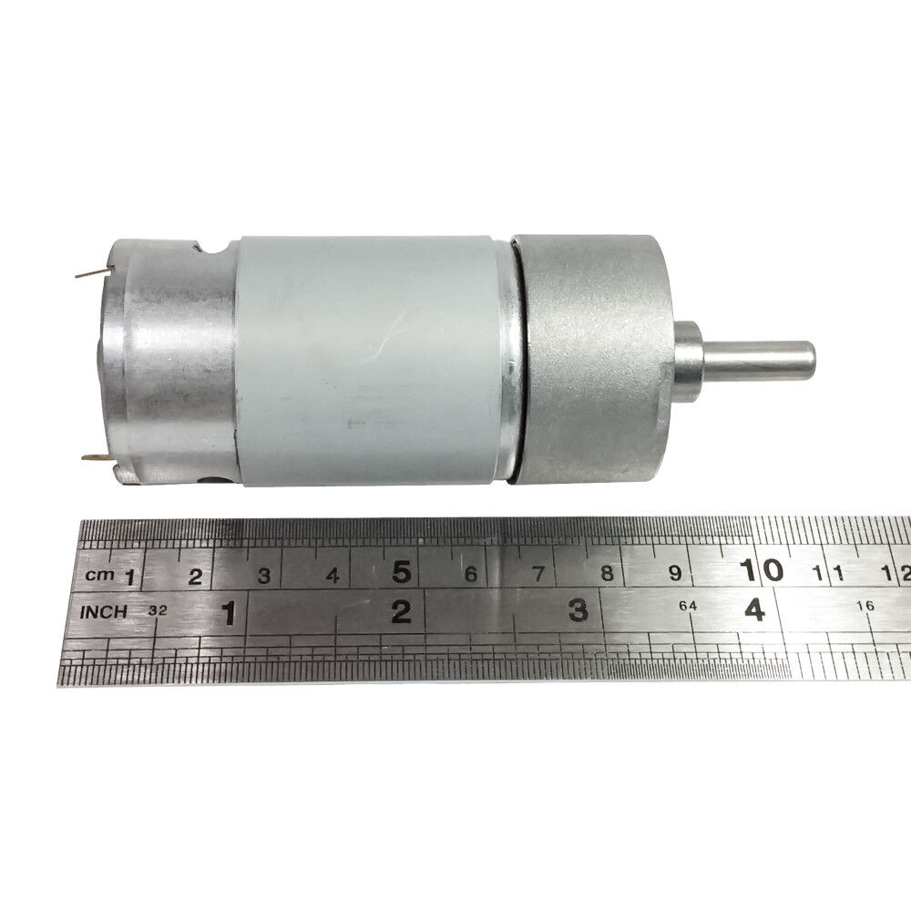 Small 12v Dc 100 Rpm Spur High Torque Gear Box Electric